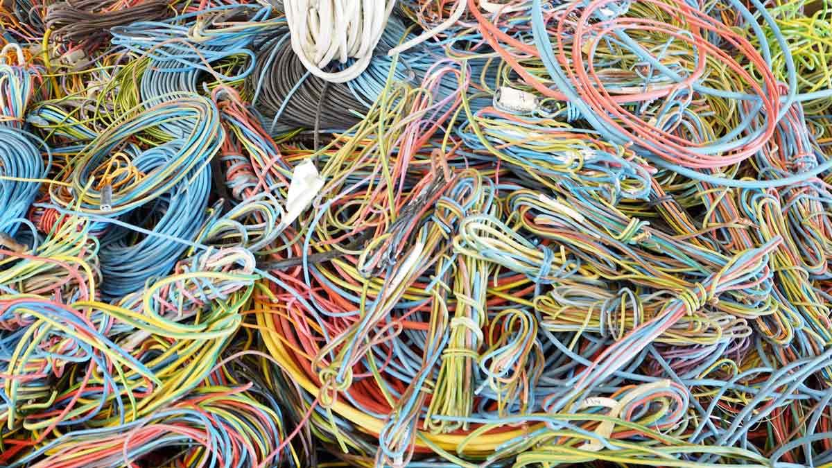 débarras récuperation cable électrique
